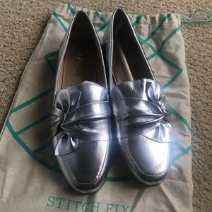Report Zeila leather loafer - metallic silver